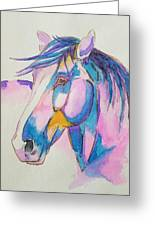 Horse In Pink  Greeting Card