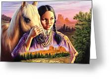 Horse Maiden Greeting Card