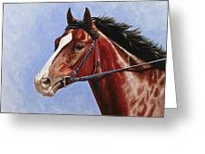 Horse Painting - Determination Greeting Card by Crista Forest
