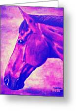 horse portrait PRINCETON pink Greeting Card