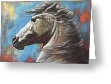 Horse Power Greeting Card by Harvie Brown