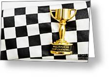 Horse Races Trophy. Melbourne Cup Win Greeting Card