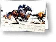 Horse Racing Dreams 1 Greeting Card