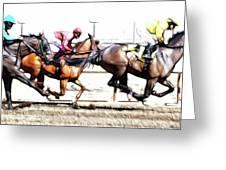 Horse Racing Dreams 2 Greeting Card