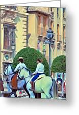Horse Riding 2 Greeting Card