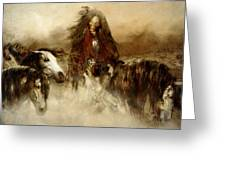 Horse Spirit Guides Greeting Card