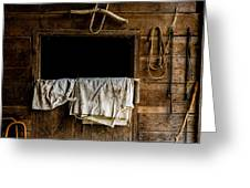 Horse Stall Greeting Card