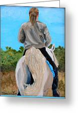 Horseback Ridding Greeting Card