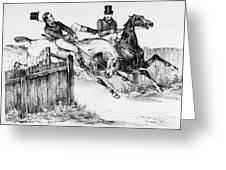 Horseback Riders, C1840 Greeting Card