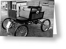 Horseless Carriage-bw Greeting Card