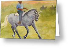 Horseman 3 Greeting Card