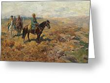 Horsemen In The Hills Greeting Card