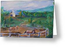 Horses At Gettysburg Greeting Card