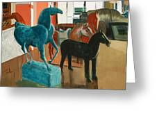 Horses Four Greeting Card