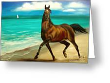 Horses In Paradise  Dance Greeting Card