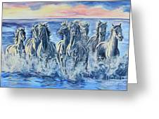 Horses Of The Sea Greeting Card