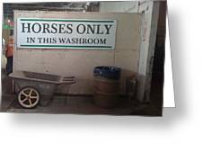 Horses Only Greeting Card