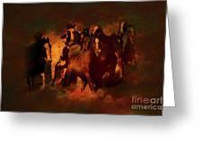 Horses Paintings 34b Greeting Card