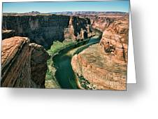 Horseshoe Bend Arizona Colorado River  Greeting Card