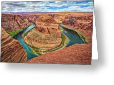 Horseshoe Bend - Colorado River - Arizona Greeting Card