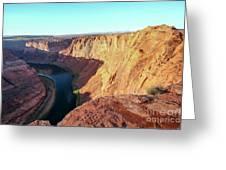 Horseshoe Bend Colorado River Arizona Usa Greeting Card