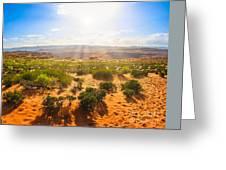 Horseshoe Bend Desert Greeting Card
