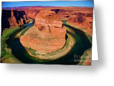 Horseshoe Bend Filters Paint  Greeting Card