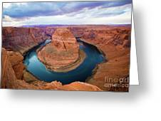 Horseshoe Bend Greeting Card by Kate Avery
