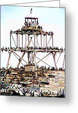 Horseshoe Reef Lighthouse 3 Greeting Card