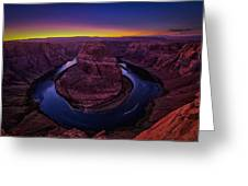 Horseshoe Sunset Greeting Card