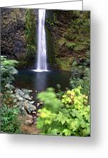 Horsetail Falls Basin Greeting Card