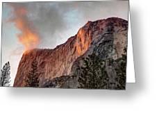 Horsetail Falls Cloudy Sunset Greeting Card