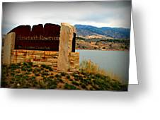 Horsetooth Peak Above The Reservoir Greeting Card