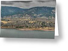 Horsetooth Reservoir Panoramic Hdr Greeting Card by Aaron Burrows