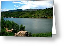 Horsetooth Reservoir Summer Greeting Card by Aaron Burrows