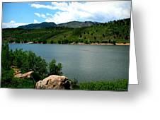 Horsetooth Reservoir Summer Greeting Card