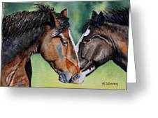 Horsing Around Greeting Card