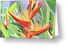 Hort Park Heliconia Greeting Card