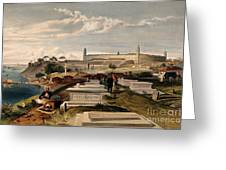 Hospital And Cemetery At Scutari, C.1854 Greeting Card