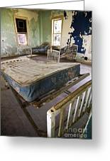 Hospital Bed Preston Castle Greeting Card