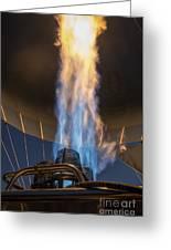 Hot Air Balloon Gas Burner Greeting Card