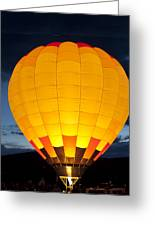 Hot Air Balloon Glow Greeting Card