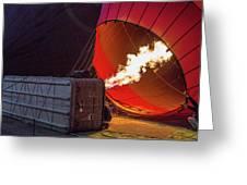 Hot Air Balloon. Inflation. Greeting Card