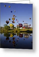 Hot Air Balloon Mass Ascension Greeting Card