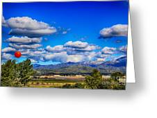 Hot Air Balloon Ride In Orange County Greeting Card