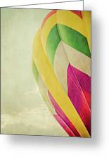 Hot Air Balloon With Pastel Sky Greeting Card