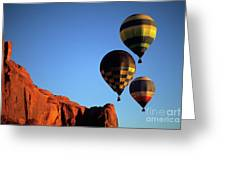 Hot Air Balloon Monument Valley 5 Greeting Card