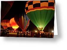 Hot Air Balloons At Night October 28, 2017 #2 Greeting Card