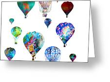Hot Air Balloons Greeting Card by Michael Colgate