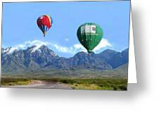 Hot Air Over The Organ Mountains Greeting Card